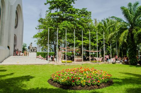 oxytocin: gothic style clock tower, Assumption University, Thailand