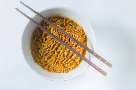 the instant noodles: Homemade Instant noodles Stock Photo