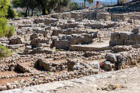 excavation of an historical palace, on Crete Stock Photo