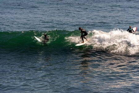 surfing people on beach of California Stock fotó