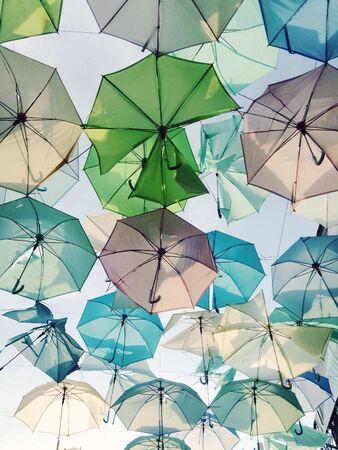 decor: Pastel umbrellas