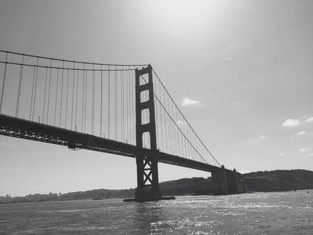 white: Golden gate bridge