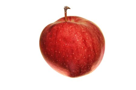 red Cameo apple isolated on white Stock Photo - 3284624