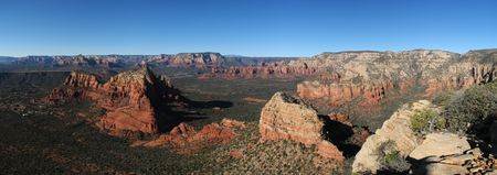 panorama of the Sedona Area from the top of the Sedona Scenic Cruise climb