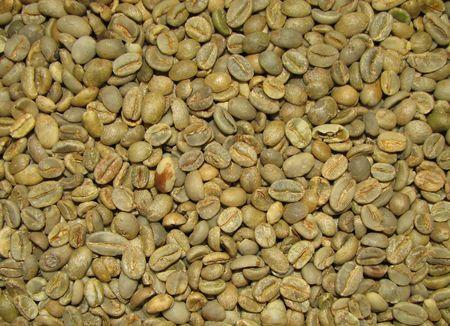 groene Arabica Moka Kadir melange koffiebonen achtergrond