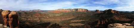 Sedona Arizona area panorama from the top of the Mace rock formation Stock Photo - 3287161
