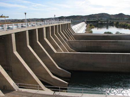 The Imperial dam on the Colorado River between Arizona and California Banco de Imagens