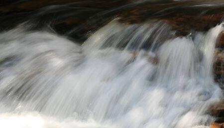 rushing water: long exposure of rushing water in rapids Stock Photo