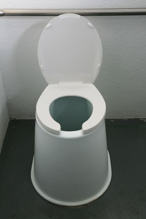 outhouse: modern accessible outhouse pit toilet