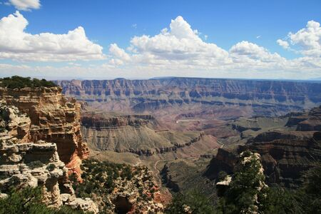 view of the Grand Canyon National Park from the Walhalla overlook on the North Rim, Arizona Stock Photo - 3577965