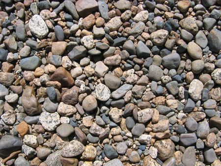 background of rounded stream pebbles Stock Photo - 3578056