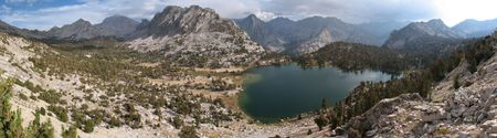 panorama of bullfrog lake in Kings Canyon National Park, California Stock Photo - 3577976