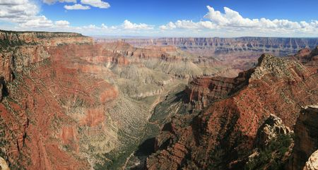 Panorama of the Grand Canyon from the north rim Walhalla overlook Stock Photo - 3587401