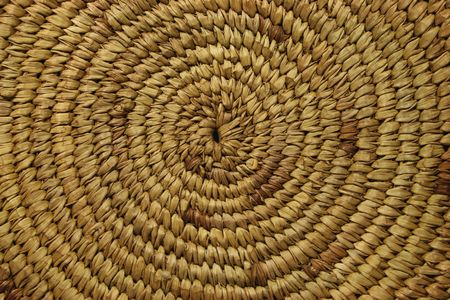 close up of the bottom of an African basket showing the spiral construction Stock Photo - 3587397