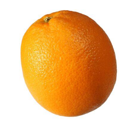single naval orange isolated on white Stock Photo - 3596507