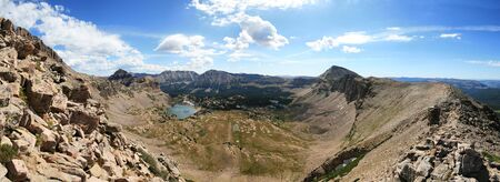 uinta mountains: panorama of Uinta wilderness taken from Mount Hayden Stock Photo