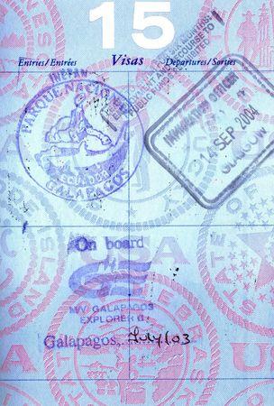 ガラパゴス諸島からのパスポート スタンプ 写真素材 - 3615587