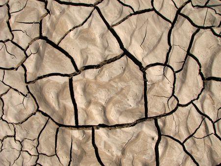 encogimiento grietas secas en el suelo limo arcilloso  Foto de archivo - 3615579