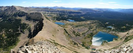 panorama of Naturalist Basin taken from Mount Agassiz Stock Photo - 3634173