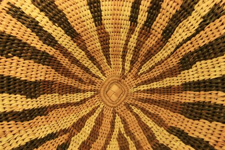 close up of an African basket showing the radial design Stock Photo