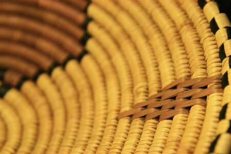 close up of an African basket showing a diamond design with shallow depth of field Stock Photo - 3634175
