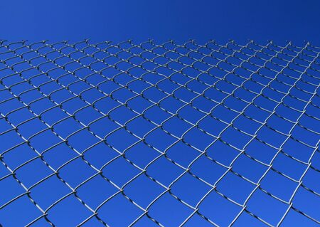 chain link fence against a blue sky Stock Photo - 3634176