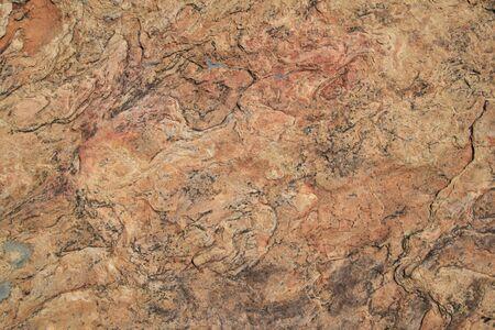 quartzite: red quartzite background surface with lichen