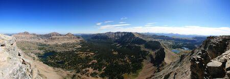uinta mountains: panorama of Uinta Mountains taken from Mount Agassiz
