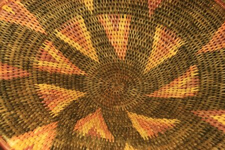 detail of an African basket showing the pattern Stock Photo - 3659520