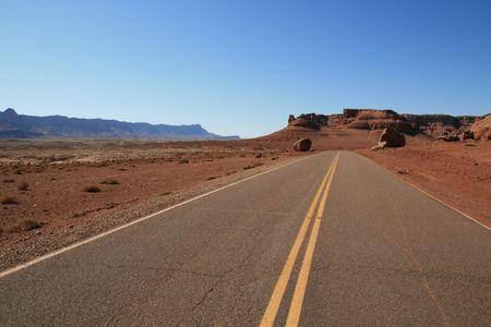 horizontal image of desert roadway in northern Arizona Stock Photo - 3659501