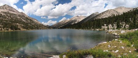 panorama of Charlotte Lake in Kings Canyon National Park, California Stock Photo - 3659529