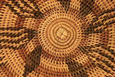 close up of the bottom of an African basket showing the spiral construction and design Stock Photo - 3672294