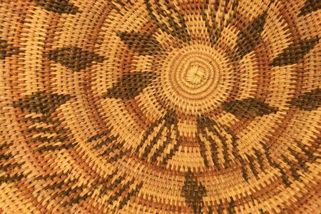 close up of an African basket showing the pattern Stock Photo - 3703746