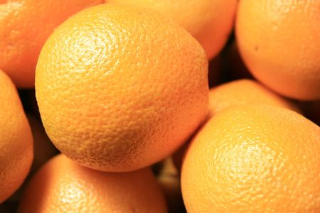 closeup of a pile of oranges Stock Photo - 3740617