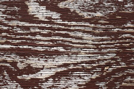 flaking: horizontal old flaking brown painted plywood background