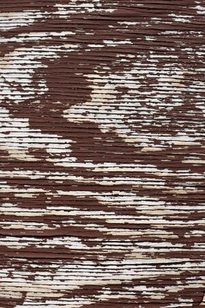 flaking: vertical old flaking brown painted plywood background