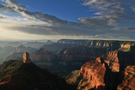 mattina vista del Grand Canyon National Park, dal punto Imperial affacciano sul Nord Rim, Arizona Archivio Fotografico