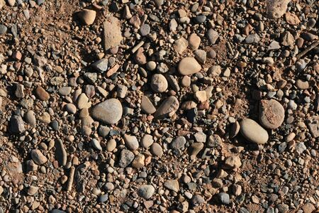 rounded mixed gravel and soil background Stock Photo - 3863961