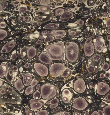 purple and black marbled paper from an antique book
