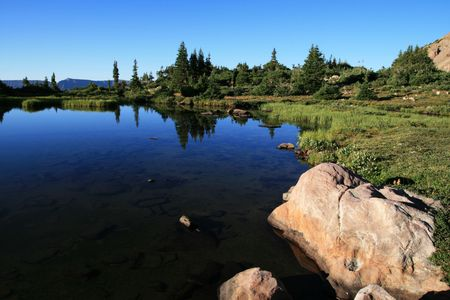 uinta mountains: lake in Naturalist Basin, uinta mountains, utah