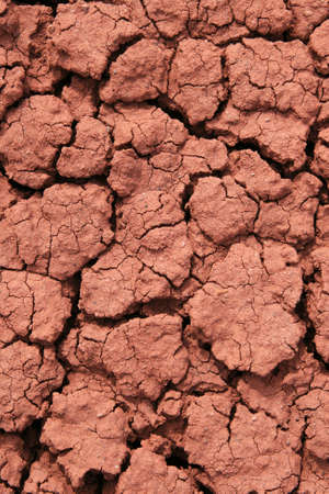 cracked red ground with bentonite clay rich soil