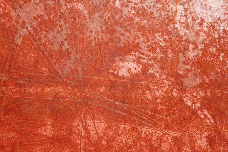 scratched red rusted iron metal for grunge background texture Stock Photo - 4911085