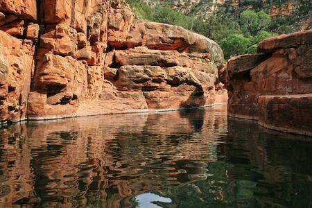Arizona red rock swimming hole  Stock Photo - 5077900