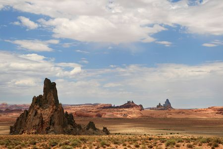 desert landscape in the Navajo Reservation, Northern Arizona