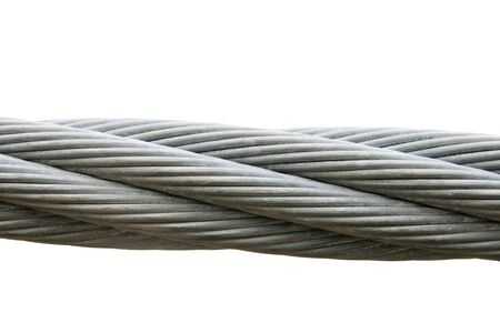 steel cable isolated on a white background