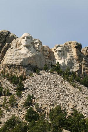 black giant mountain: vertical image of Mount Rushmore, black hills, South Dakota Editorial