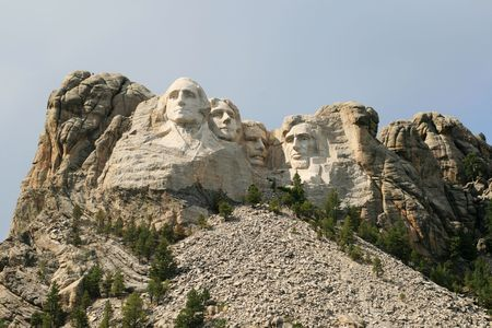 Mount Rushmore showing some of the surrounding mountain Stock Photo - 5698986
