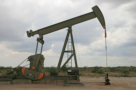 Permian Basin oil pumpjack in New Mexico photo