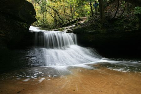 long exposure of Creation Falls in the Red River Gorge, Kentucky Stock Photo - 5990613