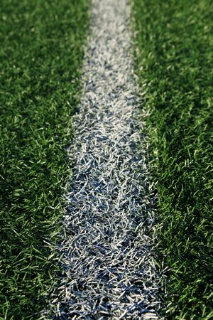 white line on an artificial turf athletic field Stock Photo - 6025427